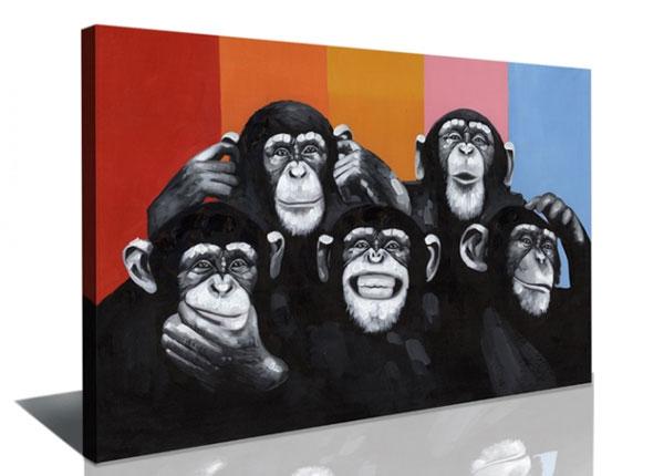 Настенная картина Monkeys 80x60 cm ED-126291