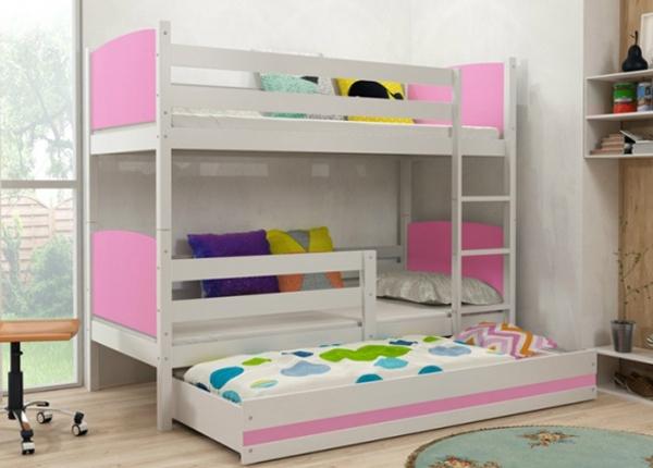 3-местная двухъярусная кровать