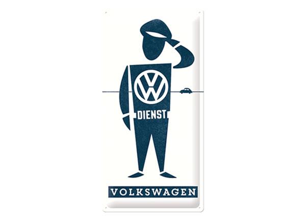 Металлический постер в ретро-стиле VW Dienst 25x50 cm SG-126775