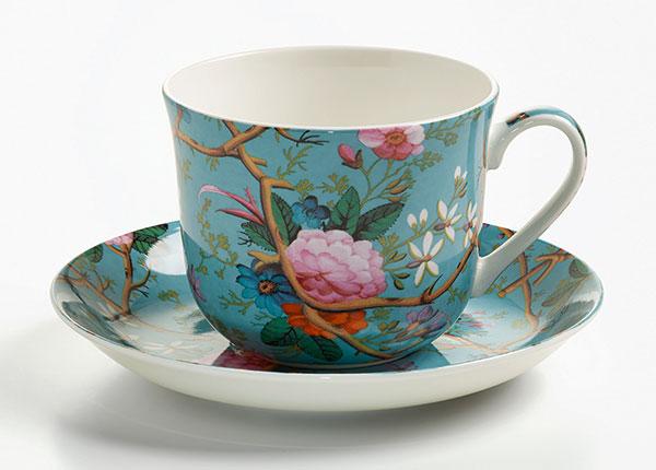 Чашка с блюдцем Victorian garden 500 ml AS-127052