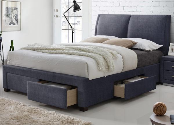 Кровать с ящикми 160x200 cm RA-128079