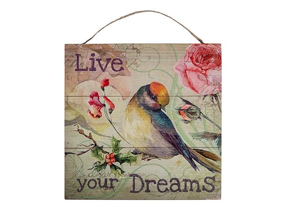Деревянная картина Live your dreams 30x30 cm EV-128191