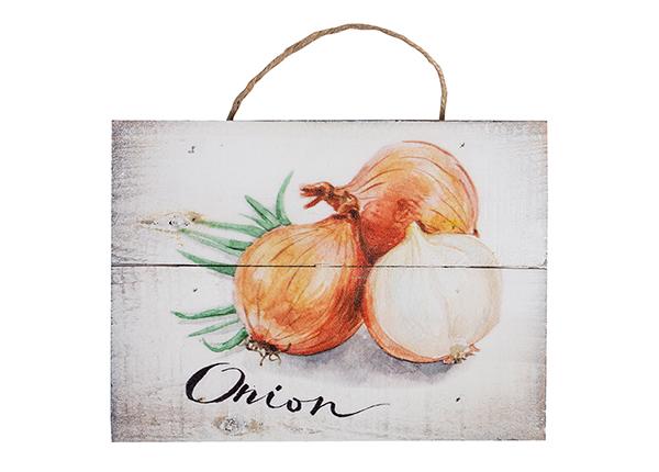 Деревянная картина Onion 15x20 cm EV-128198