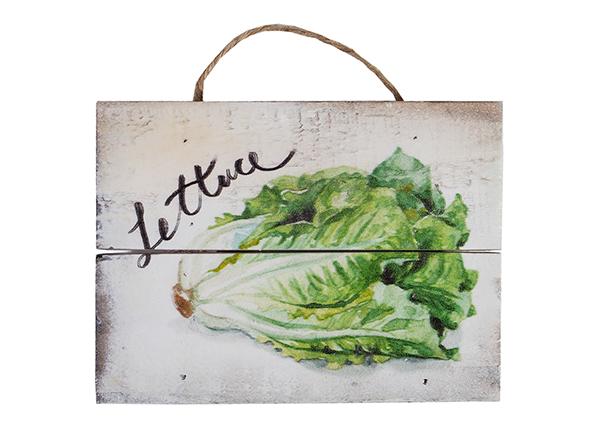 Деревянная картина Lettuce 15x20 cm EV-128200