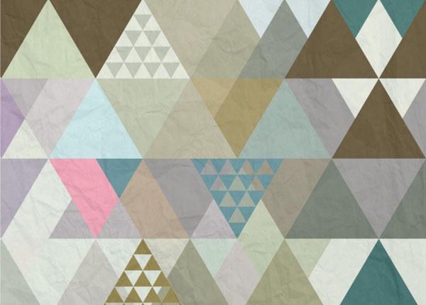 Флизелиновые фотообои Triangles 360x270 cm ED-128205