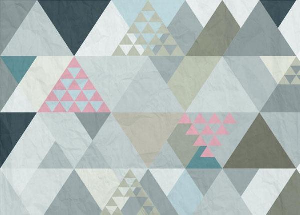 Флизелиновые фотообои Triangles 1, 360x270 cm ED-128210