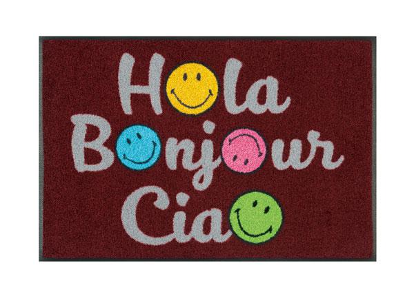 Ковер Smiley Hola Bonjour Ciao 50x75 cm A5-128308