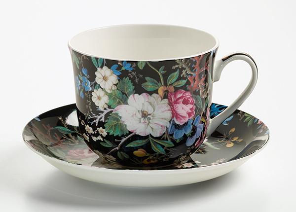 Чашка с блюдцем Midnight blossom 500 ml AS-128499