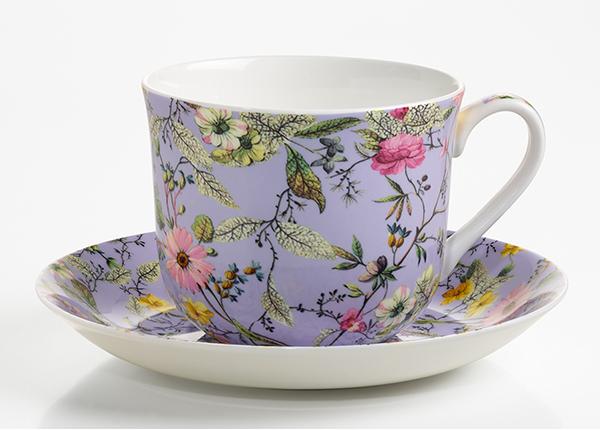 Чашка с блюдцем Winter bloom 500 ml AS-128512
