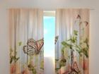 Просвечивающая штора Irises and butterflies 240x220 cm ED-128619