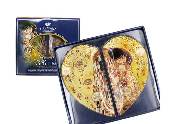 Набор тарелок в виде сердца G. Klimt MO-128727