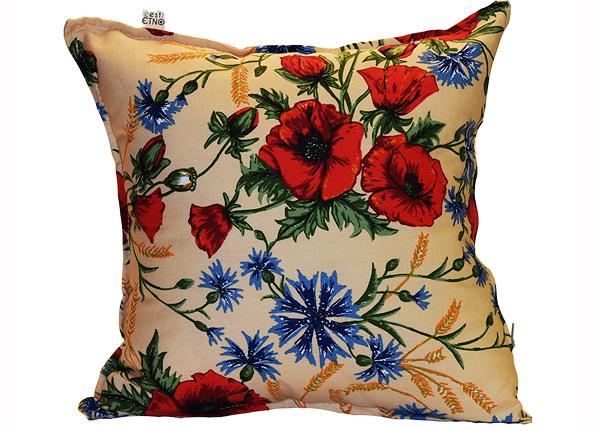 Декоративная подушка с мотивом вышивки Muhu бежевый 40x40 cm EN-129696