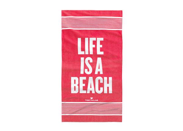 Пляжное полотенце Tom Tailor, Life is a beach 85x160 cm AÄ-130247