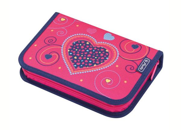 Заполненный пенал Herlitz Pink Hearts BB-130921
