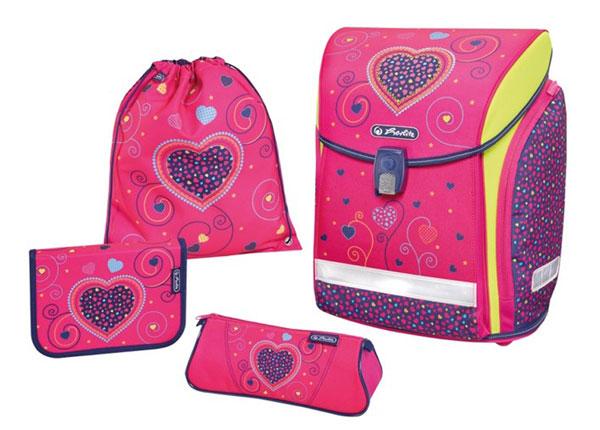 Ранец Herlitz New Midi Plus Pink Hears BB-131003
