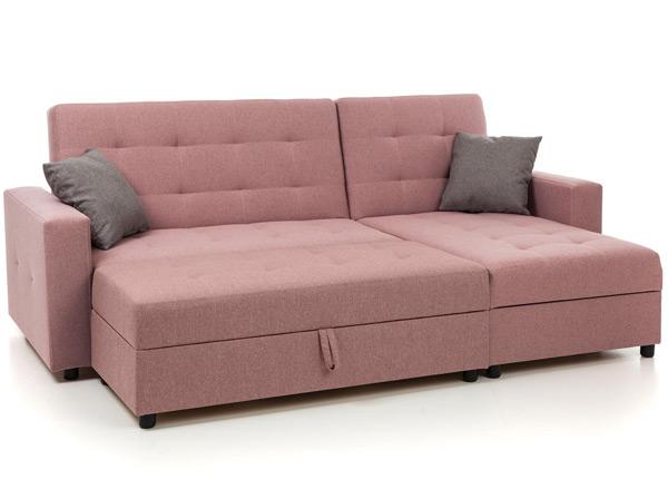 Угловой диван-кровать с ящиком + пуф с ящиком Denver VR-131198