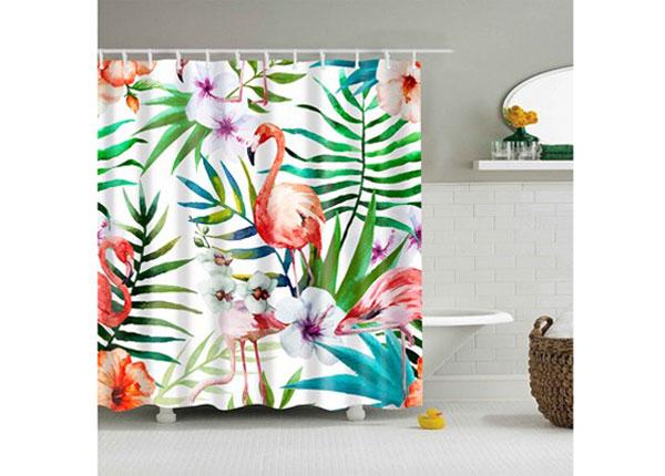 Штора для ванной Flamingo Tropical 150x180 cm AÄ-131704
