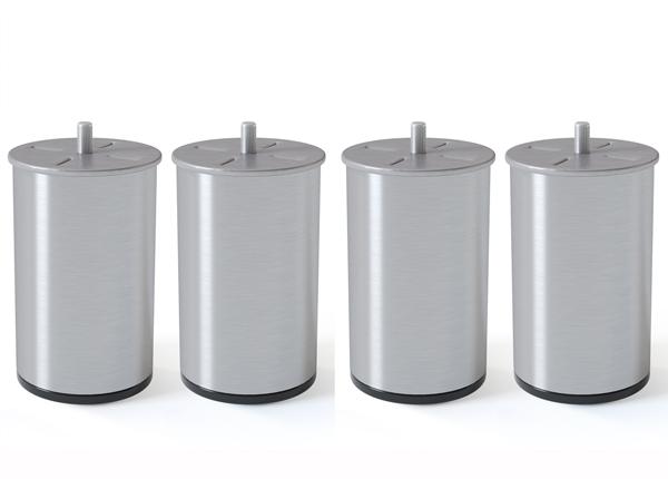 Металлические ножки, полированное серебро 10 cm SW-132618