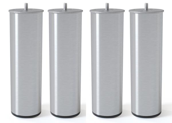 Металлические ножки, полированное серебро 20 cm SW-132620
