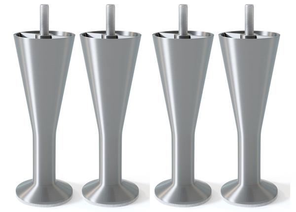 Металлические ножки, матовое серебро 12 cm SW-132621