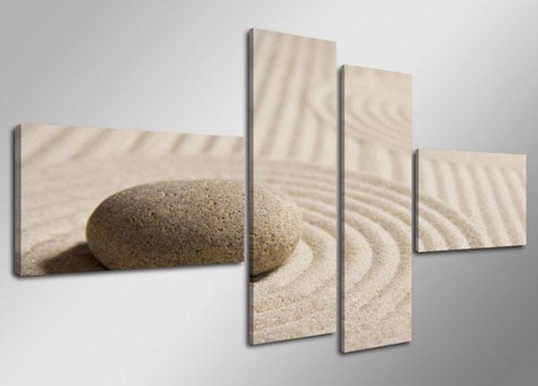 Картина из 4-частей Камень на песке ON-132886