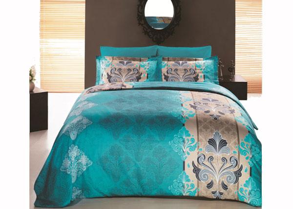 Сатиновое постельное белье с 2-мя пододеяльниками Embro Turkuaz 160x220 cm AÄ-132975