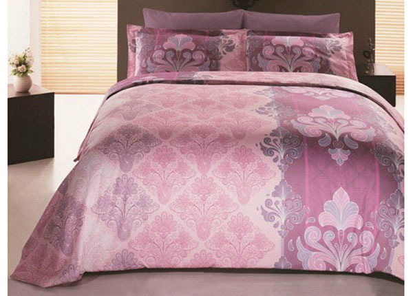 Сатиновое постельное белье с 2-мя пододеяльниками Embro Pembe 160x220 cm AÄ-132978