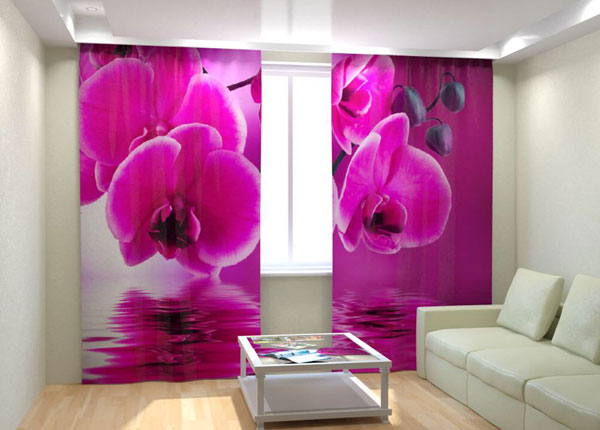 """Фотошторы """"Pink Orchid on the water"""" 300x260 см AÄ-133018"""