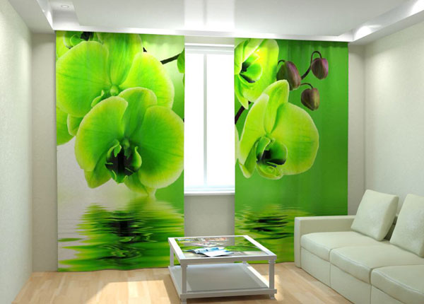 """Фотошторы """"Green Orchid on the water"""" 300x260 см AÄ-133019"""