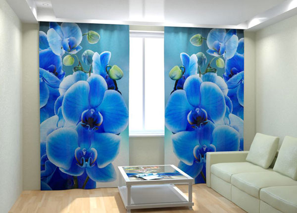 """Фотошторы """"Blue Orchid on the water"""" 300x260 см AÄ-133020"""