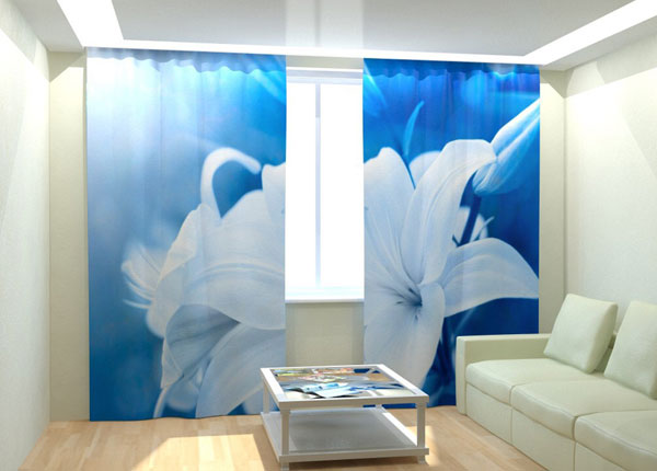 """Фотошторы """"White Lily"""" 300x260 см AÄ-133024"""