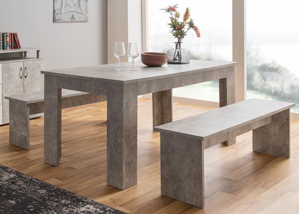 Обеденный стол 160x90 cm + 2 скамьи CM-133493