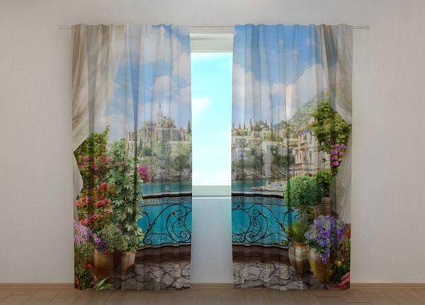 Затемняющая штора Balcony with flowers 240x220 см ED-133757