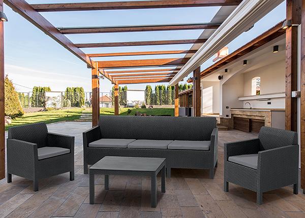 Комплект садовой мебели Keter Orlando, graphite TE-133791