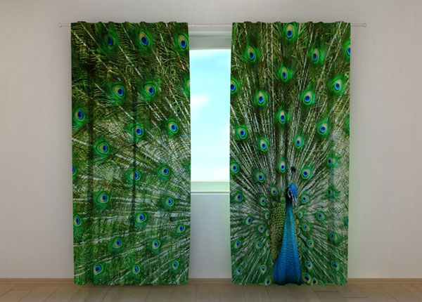 Затемняющая штора Beautiful Peacock 240x220 см ED-134173