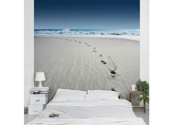 Флизелиновые фотообои Footprints in the sand