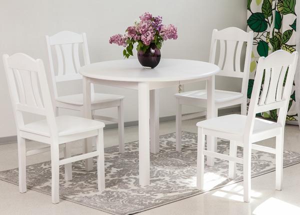 Обеденный комплект Ada2 100x100-178 cm + стулья Per 4шт EC-135328