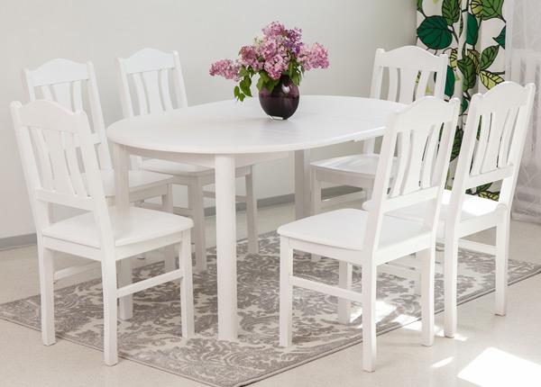 Обеденный комплект Ada2 100x100-178 cm + стулья Per 6шт EC-135329