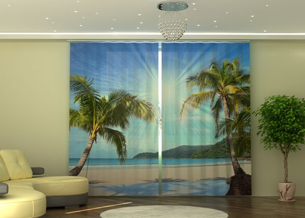 Полузатемняющая штора Palm trees ED-135548