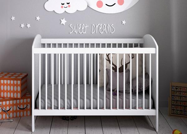 Детская кроватка Dream 60x120 cm + матрас AY-135794