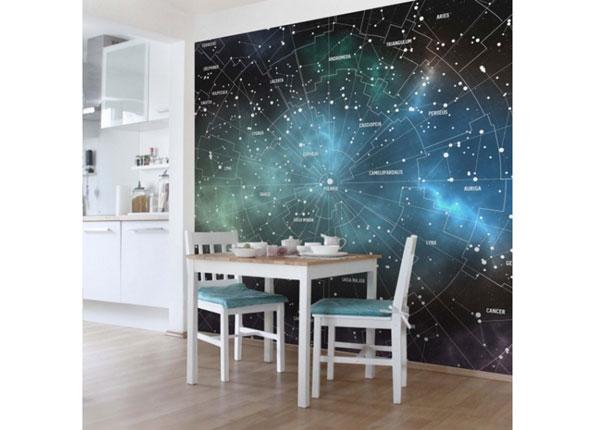 Флизелиновые фотообои Constellations Map Galaxy Fog