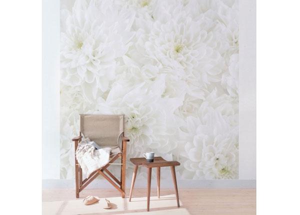 Флизелиновые фотообои Dahlias sea of flowers white