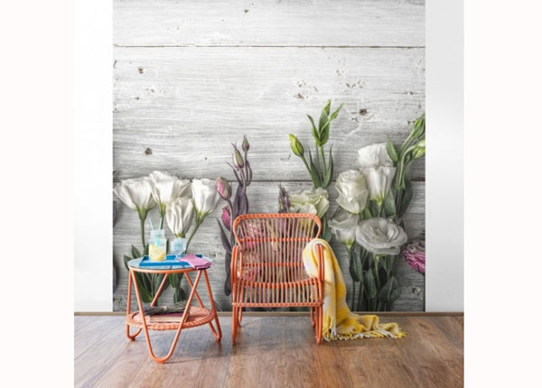 Флизелиновые фотообои Tulip Rose Shabby wood look