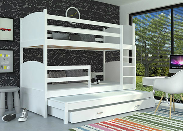 3-местная двухъярусная кровать 80x184 cm + матрасы TF-137659