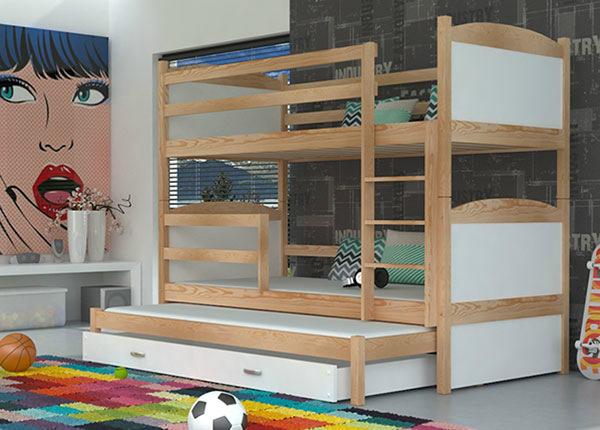 3-местная двухъярусная кровать 80x184 cm + матрасы TF-137661