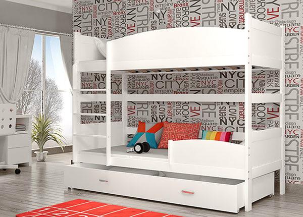 Двухъярусная кровать 80x184 cm + матрасы