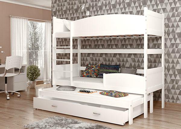 3-местная двухъярусная кровать 80x184 cm + матрасы