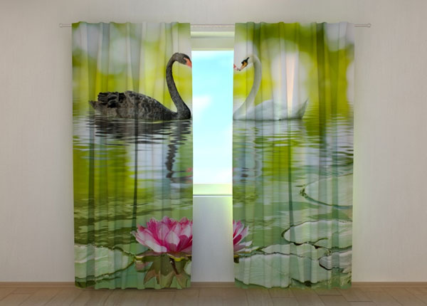 Затемняющая штора Black and White Swans ED-137843