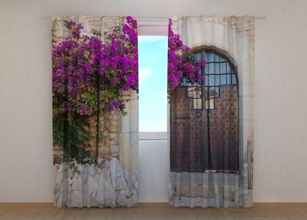 Полузатемняющая штора Purple Bush and Old Door ED-137853