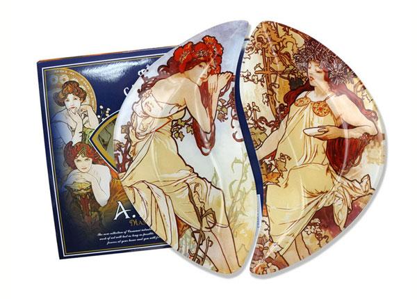 Комплект десертных тарелок A. Mucha MO-138119